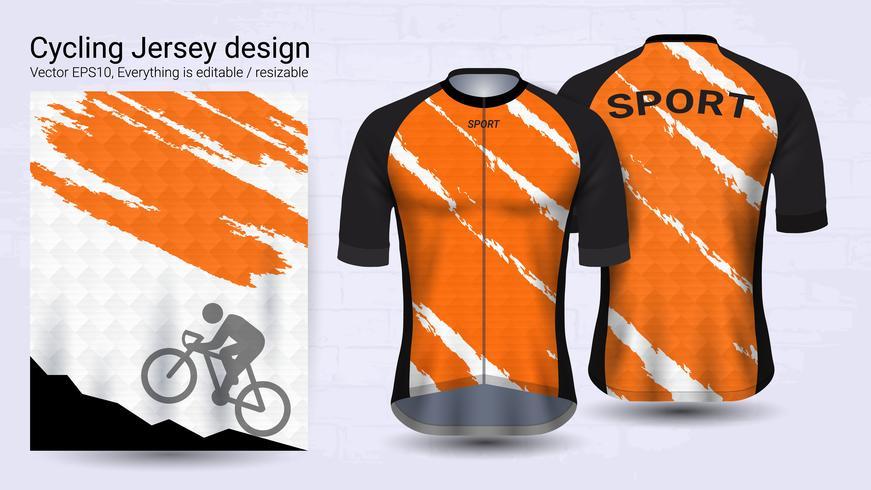 Camisas de ciclismo, modelo de maquete de esporte de manga curta.