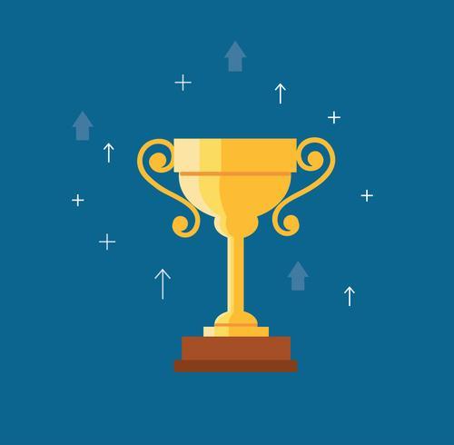 Trophy cup vector, wining concept vector