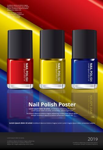 Nagellak Poster ontwerpsjabloon vectorillustratie