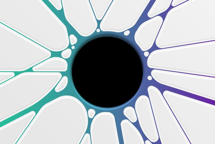 Abstract hole template with colorful pattern vector