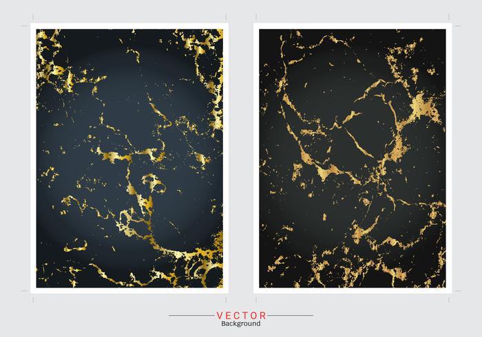 Fondo de cubierta de mármol dorado. vector