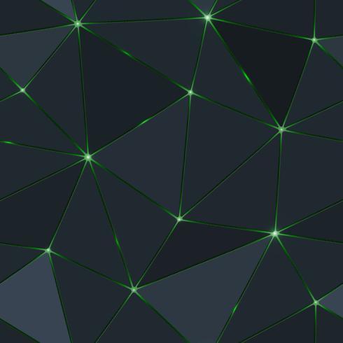 Polygone sombre sans soudure avec la lumière verte. vecteur