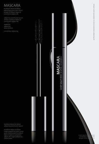 Poster máscara cosmética con ilustración vectorial de embalaje vector