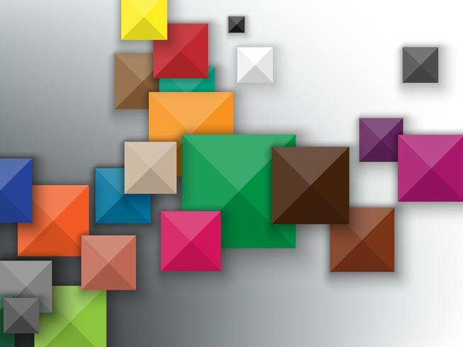 Abstrait de carrés colorés. vecteur
