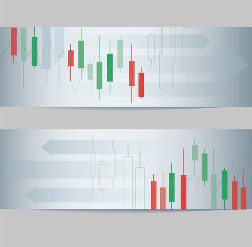 abstrakt ljusstake börsen banner bakgrund vektor