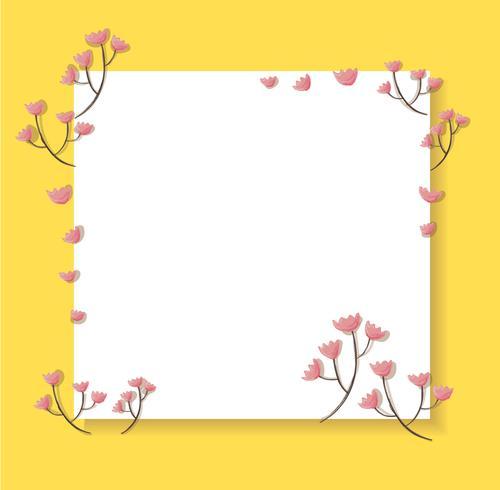 fiore rosa pastello e illustrazione vettoriale di sfondo