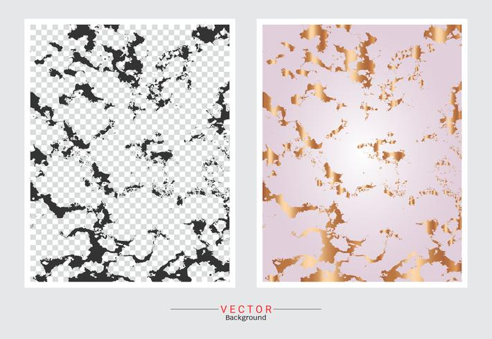 Rose gold marble texture background. vector