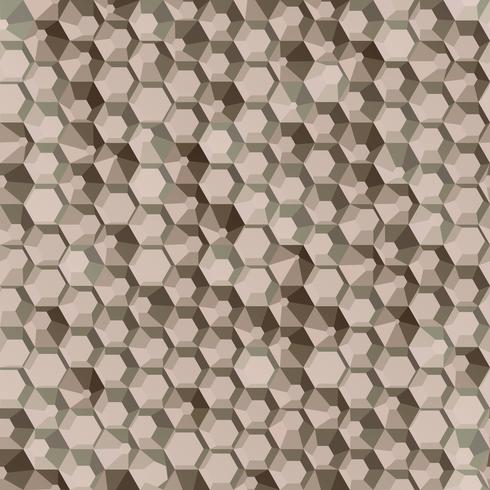 Brown hexagon polygon seamless background.