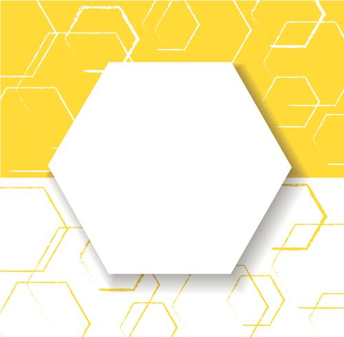 abstract yellow hexagon background vector