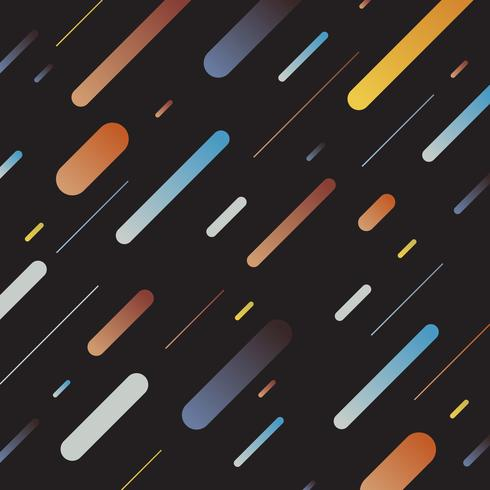 Abstract multicolor dynamic geometric pattern diagonal lines on dark background. Retro style vector