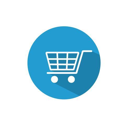 Design plat de shopping cart icône - illustration vectorielle vecteur