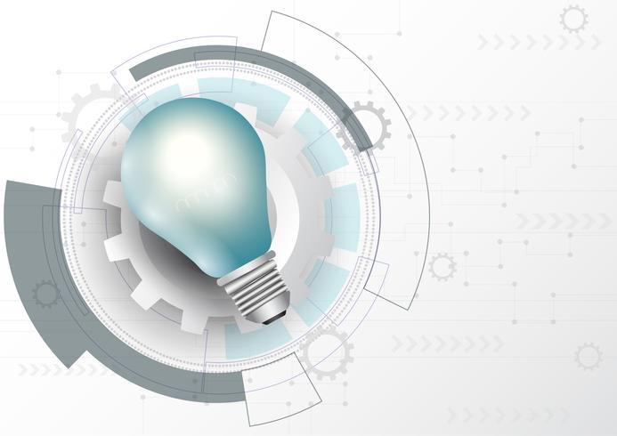 Concetto d'ardore di piano di strategia aziendale della lampadina.