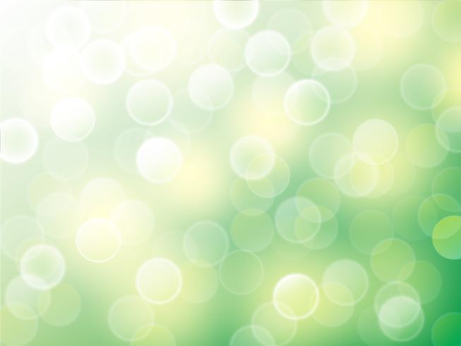Vector bokeh abstract background on nature scene.