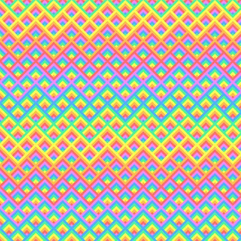 Priorità bassa di arte del pixel di quadrati 3D arcobaleno vettore
