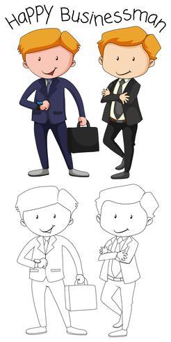 Doodle grafico di uomo d'affari vettore