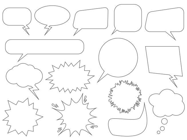 Satz Spracheblasen - Vektorillustration