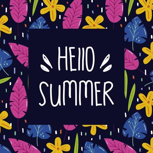 Cadre d'été floral vecteur