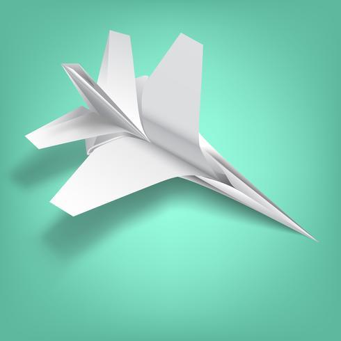 Simbolo della guerra in saggezza di carta piegata vettore