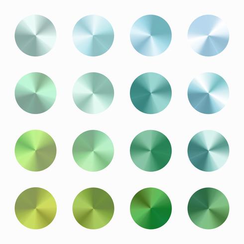 Insieme blu verde di vettore di gradiente conico