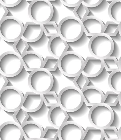Teste padrão geométrico abstrato sem emenda, papel de parede futurista da beira do prame, superfície cinzenta da telha 3d.