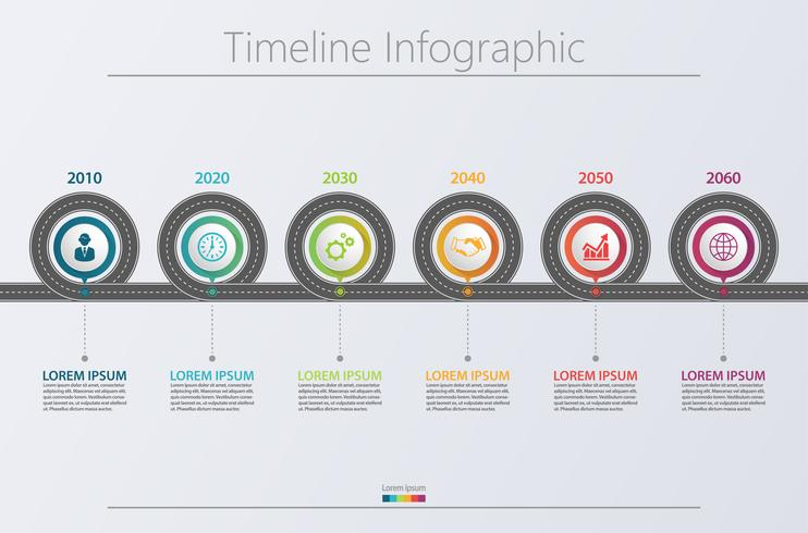 Presentation Business road map infographic template. vector