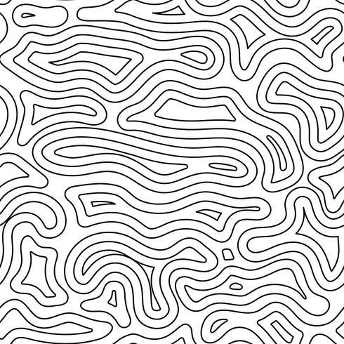 Abstraktes Gelände mit schwarzer Linie auf nahtlosem Hintergrunddesign. vektor