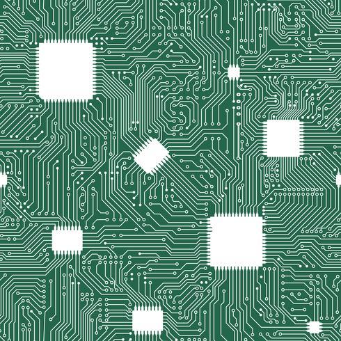 Nahtloser Hintergrund der ENV-Vektor-Motherboard-Zusammenfassung.