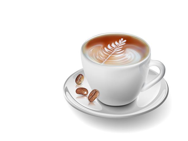 Taza de café realista de arte vectorial.