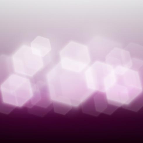 Bokeh violet en forme d'hexagone.