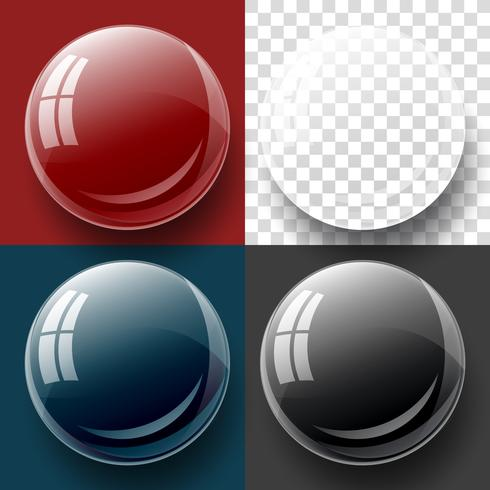 Transparency button, and bubble shape.