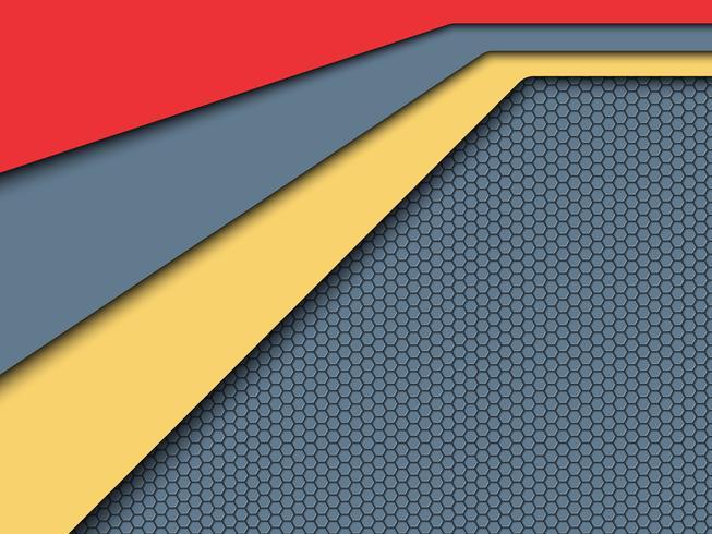 Foglio di colore ed etichetta astratto. vettore