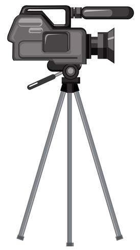 Eine professionelle Videokamera