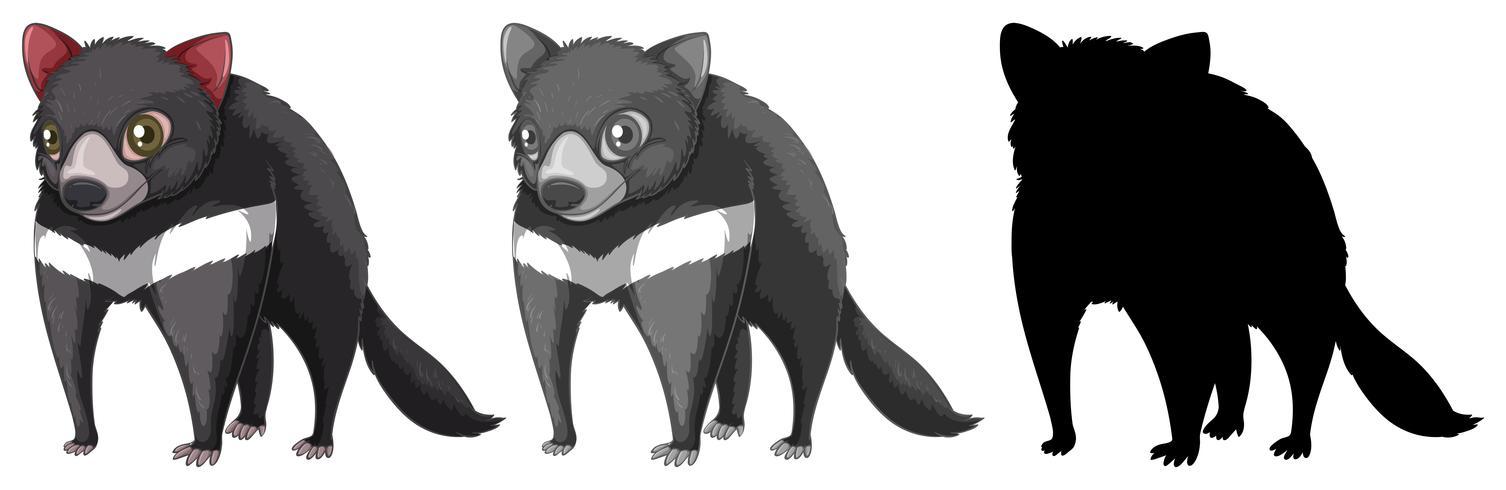 Set di caratteri del diavolo tasmaniano vettore