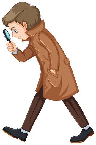 Détective en manteau marron