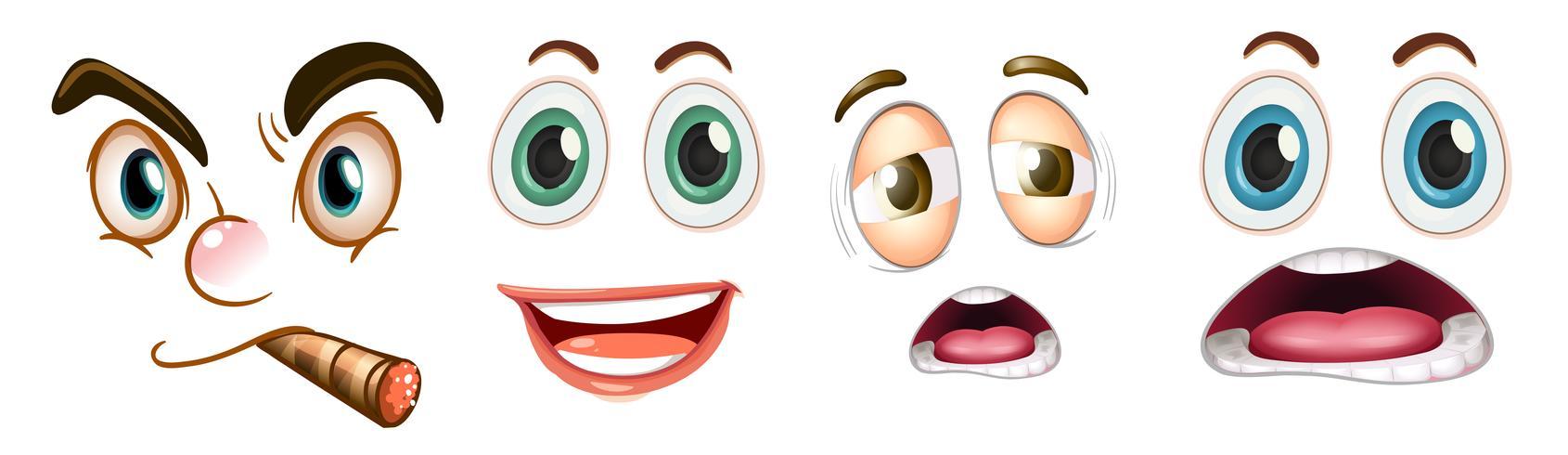 Conjunto de expresión facial vector