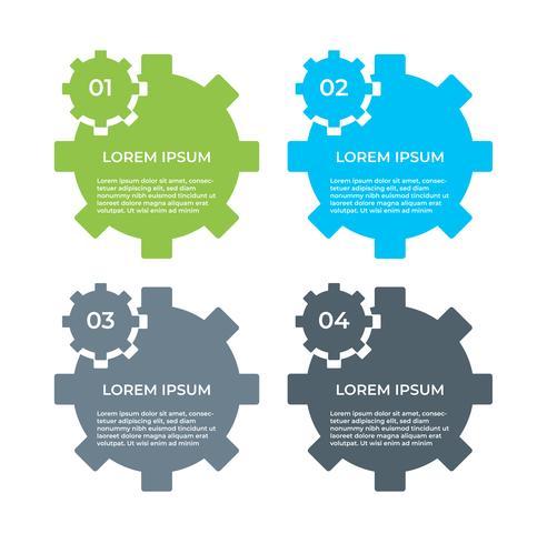 Infografía de negocios. Diagrama con 4 pasos, opciones o procesos. Plantilla de infografías para presentación. vector