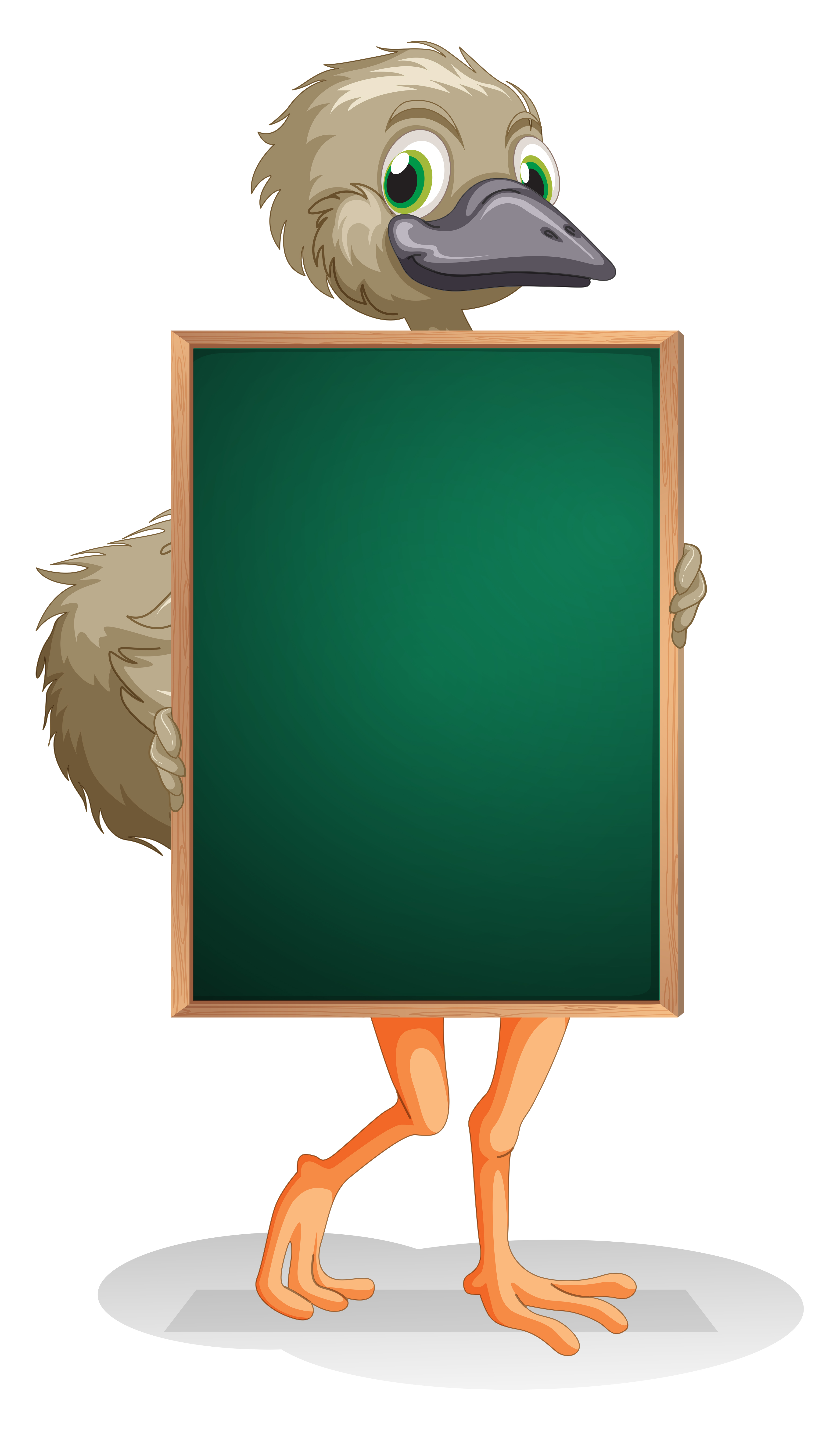 An ostrich holding an empty blackboard - Download Free ...