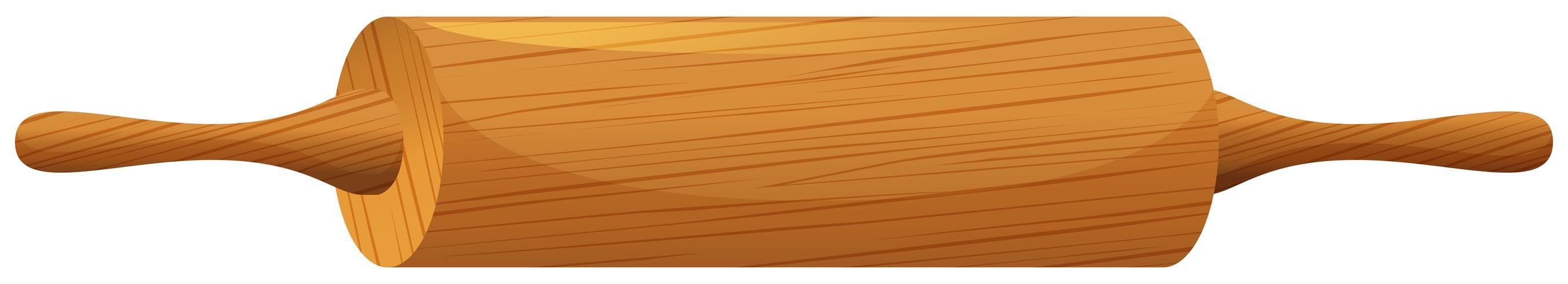 Perno de rodillo de madera vector