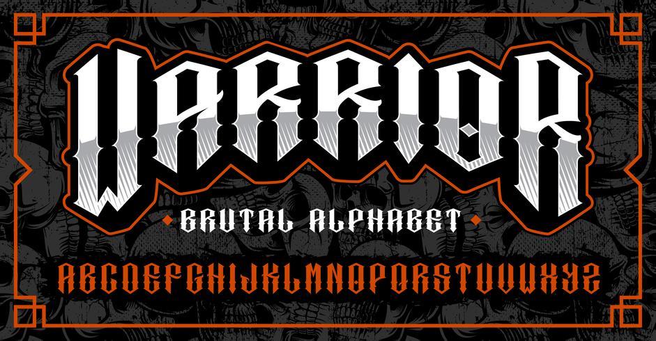 Warrior font, brutal typsnitt för teman som biker, tatuering, rock and roll och många andra.