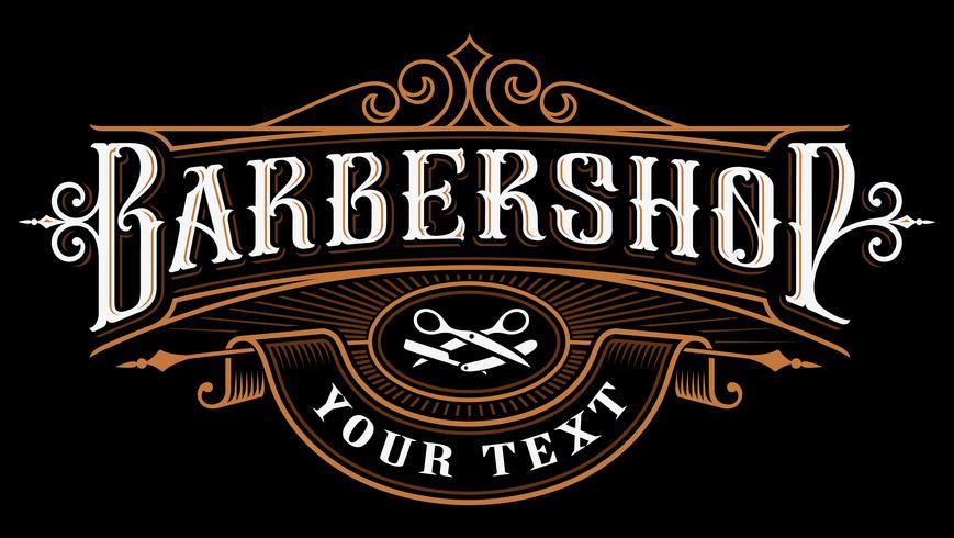 Design de logotipo de barbearia. vetor