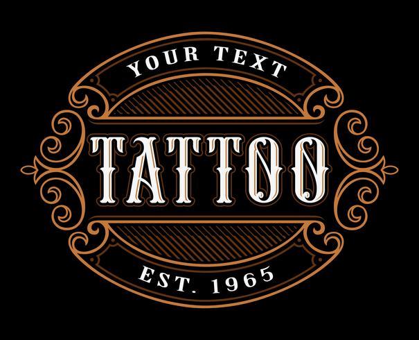 Tattoo logotyp mall.