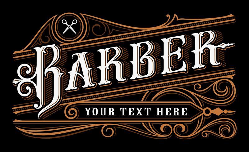 Disegno lettering barbiere