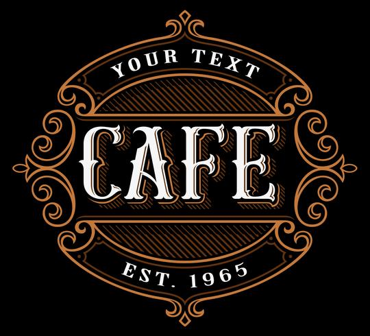 Design de logotipo do café. vetor