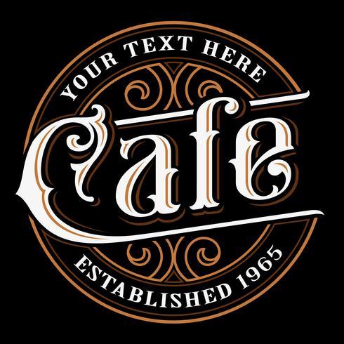 Diseño de letras vintage café. vector