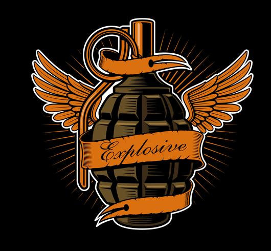 Grenade with wings