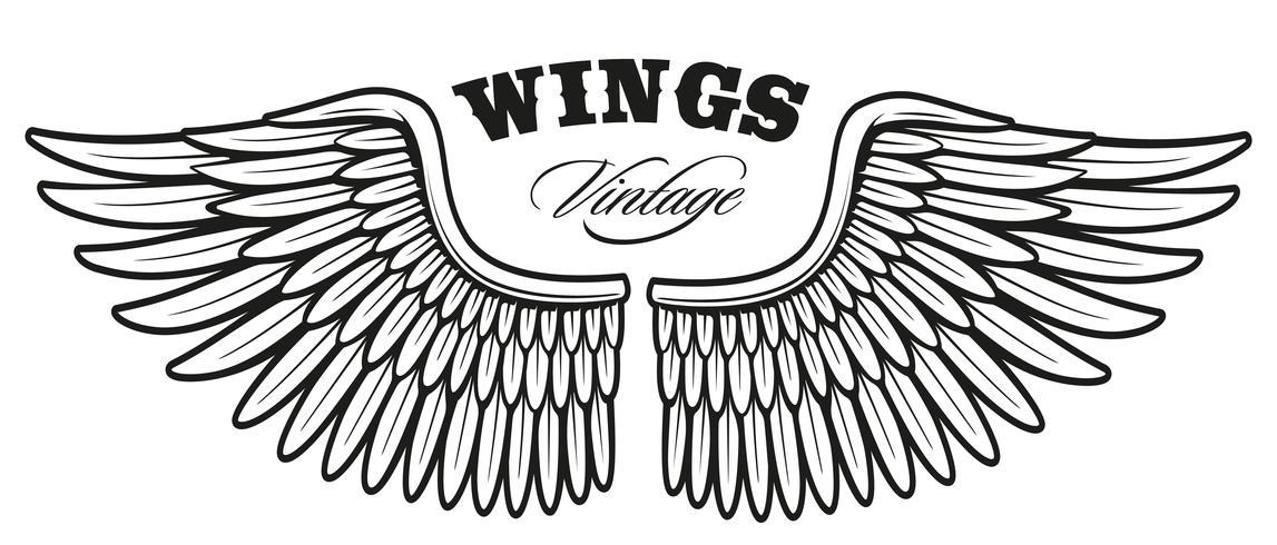 vintage wings_2 vector
