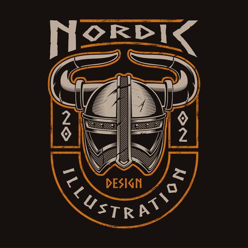 Viking-helm vector