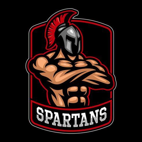 Sparpartan warrior logo design.  vector