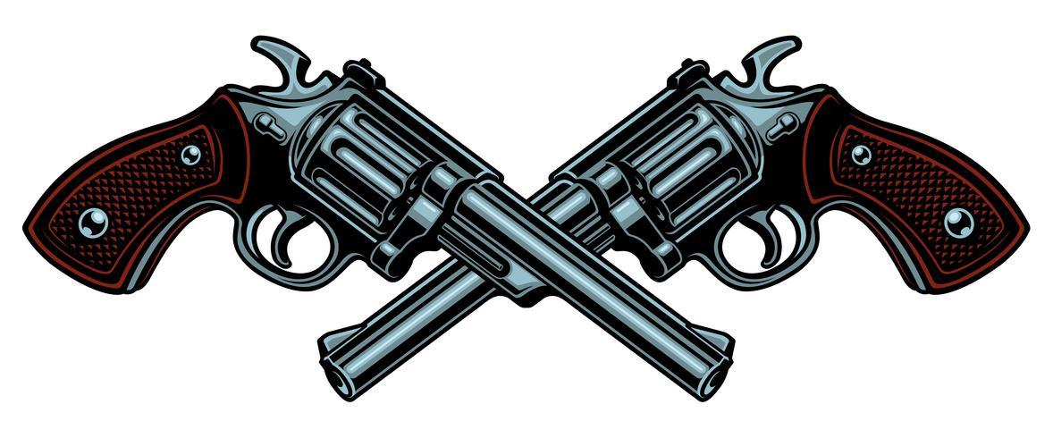 Vektor illustration med vapen.