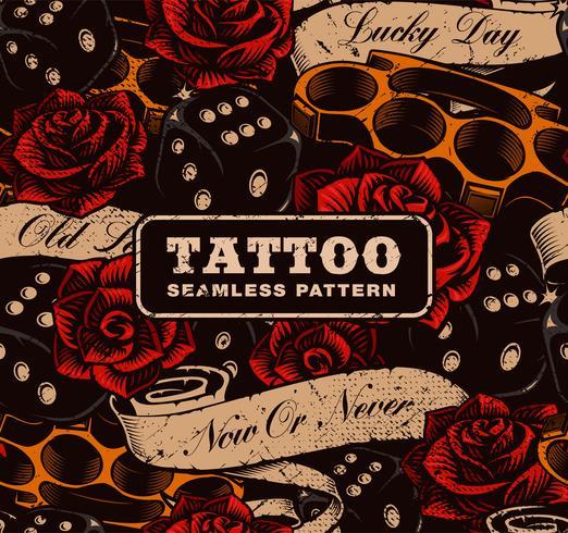 Tattoo nahtlose Hintergrund.